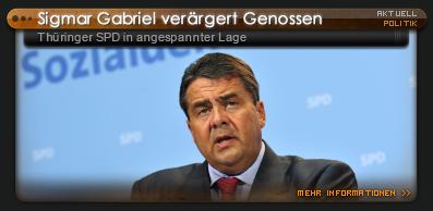 Sigmar Gabriel bei Thüringer SPD